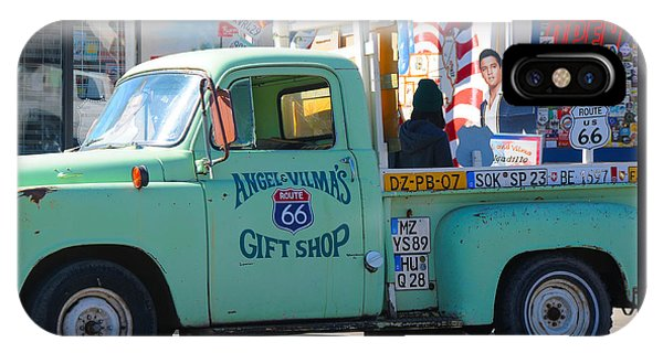 Vintage Truck With Elvis On Historic Route 66 IPhone Case