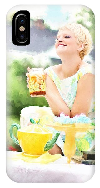 Vintage Val Iced Tea Time IPhone Case