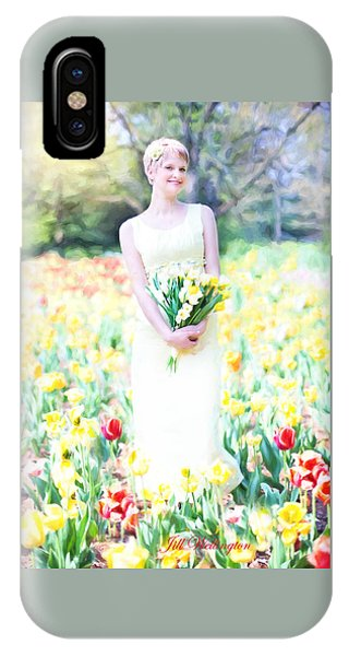 Vintage Val Spring Tulips IPhone Case