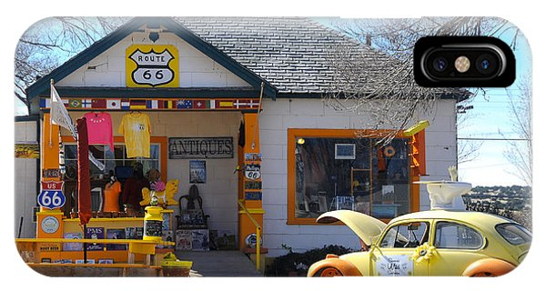 Vintage Vw Beetle At Seligman Antiques, Historic Route 66 IPhone Case