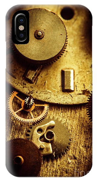 Mechanism iPhone Case - Vintage Watch Parts by Jorgo Photography - Wall Art Gallery