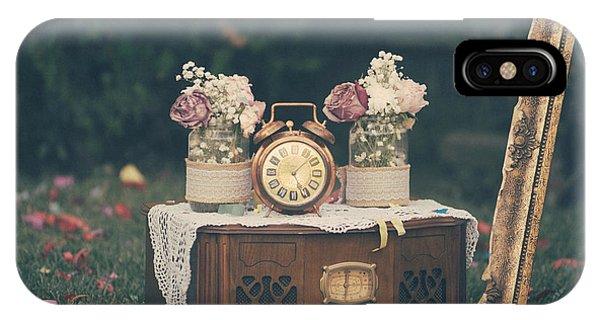 Golden Gardens iPhone Case - Vintage Wedding Decoration Still Life by Jelena Jovanovic