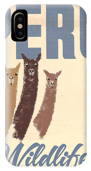 Llama iPhone Case - Vintage Wild Life Travel Llamas by Mindy Sommers