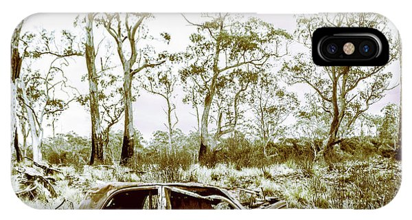 Abandon iPhone Case - Vintage Winter Car Wreck by Jorgo Photography - Wall Art Gallery