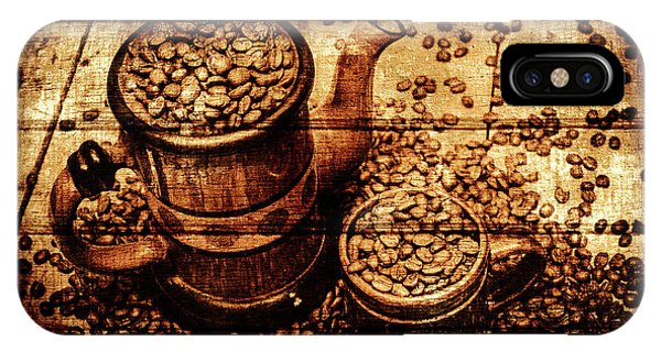 Cafe iPhone Case - Vintage Wooden Coffee Shop Sign by Jorgo Photography - Wall Art Gallery