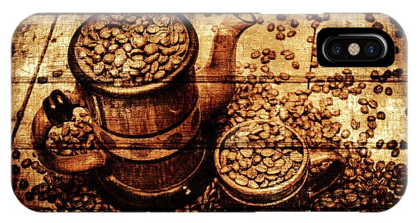 Vintage Wooden Coffee Shop Sign IPhone Case
