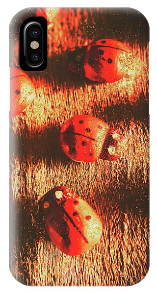 Ladybug iPhone Case - Vintage Wooden Ladybugs by Jorgo Photography - Wall Art Gallery
