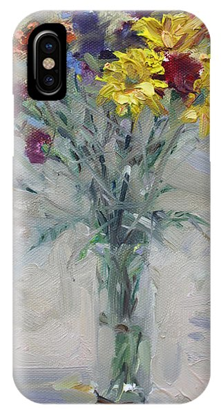 Bouquet iPhone Case - Viola's Flowers by Ylli Haruni