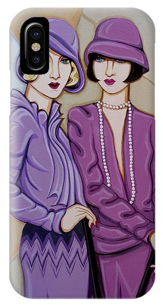 Violet And Rose IPhone Case