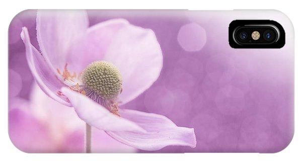 Contemporary Floral iPhone Case - Violet Breeze by Lisa Knechtel