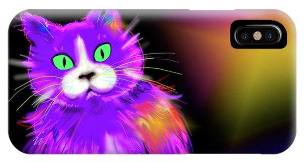 Violet Dizzycat IPhone Case
