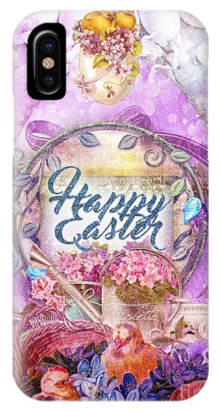 Alleluja iPhone Case - Violet Easter by Mo T