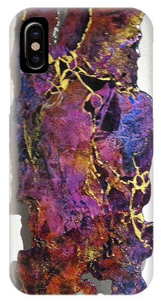 Violet Fractures IPhone Case