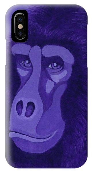 Violet Gorilla IPhone Case