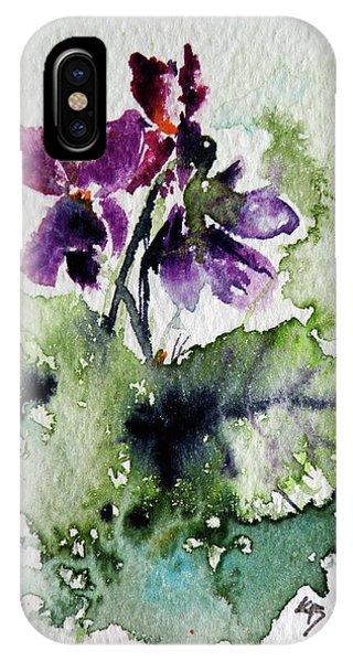 Violet iPhone Case - Violet Iv by Kovacs Anna Brigitta