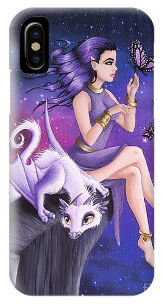 Violet Night Fantasy IPhone Case