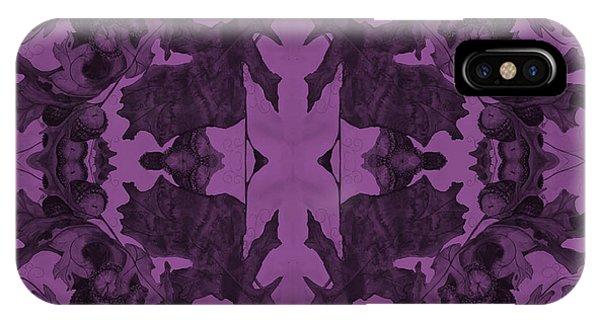 Violet Oak Tree Pattern IPhone Case