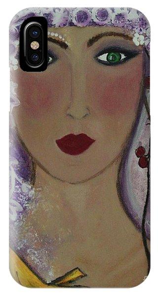 Violet Queen IPhone Case
