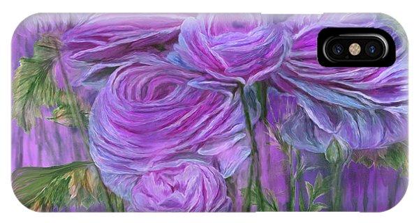 Violet iPhone Case - Violet Ranunculus by Carol Cavalaris