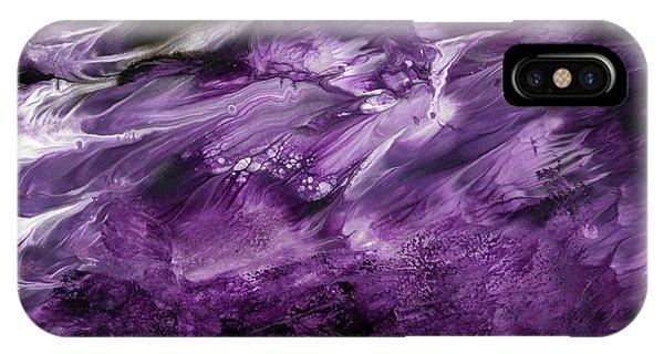 Violet iPhone Case - Violet Rhapsody- Art By Linda Woods by Linda Woods