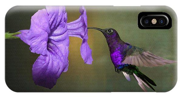 Violet Sabrewing Hummingbird IPhone Case
