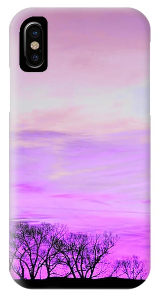 IPhone Case featuring the photograph Violet Skies by Jennie Marie Schell