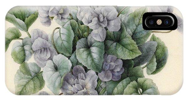 Violet iPhone Case - Violets  by Aline Corbin