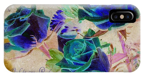 Violets Are Red- Roses Are Blue IPhone Case