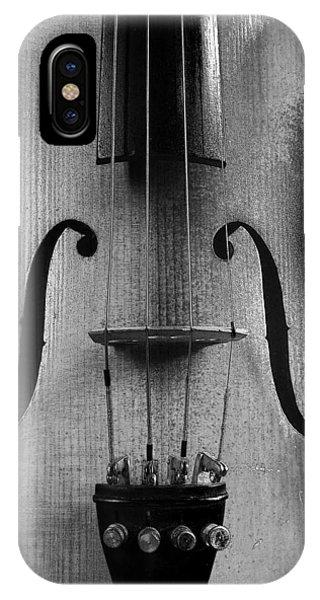 Violin # 2 Bw IPhone Case