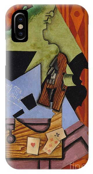 Violin And Playing Cards On A Table, 1913 IPhone Case