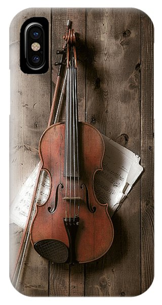 Music iPhone Case - Violin by Garry Gay
