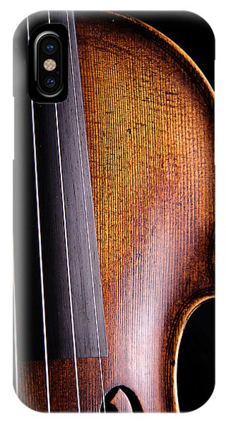 Violin iPhone X Case - Violin Isolated On Black by M K  Miller