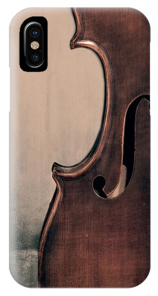 Violin iPhone X Case - Violin Portrait  by Emily Kay