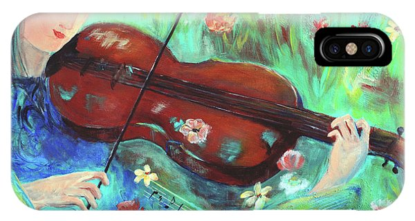 Violinist In Garden IPhone Case