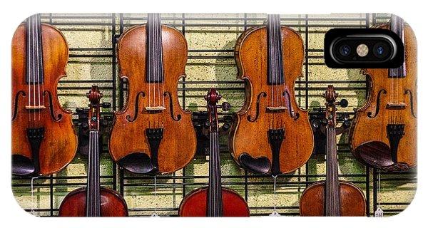 Violins In A Shop IPhone Case