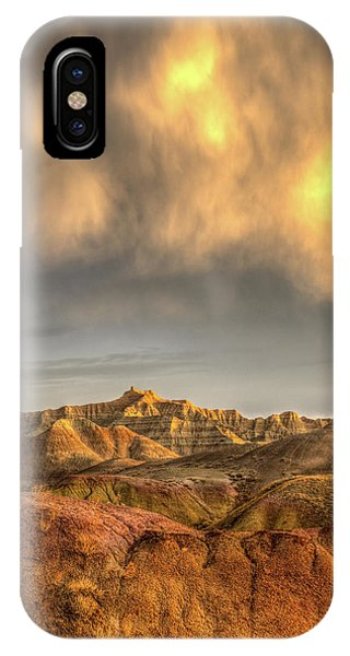 Virga Over The Badlands IPhone Case