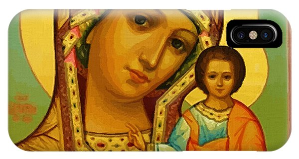 Virgin And Child Painting IPhone Case
