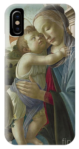Botticelli iPhone Case - Virgin And Child With An Angel by Botticelli