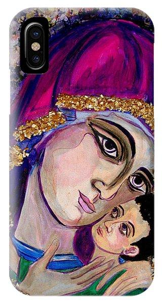 Virgin Mary In Purple IPhone Case