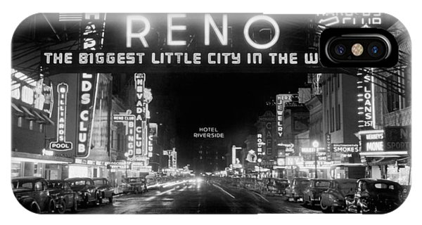 Culture Club iPhone Case - Virginia Street In Reno by Underwood Archives