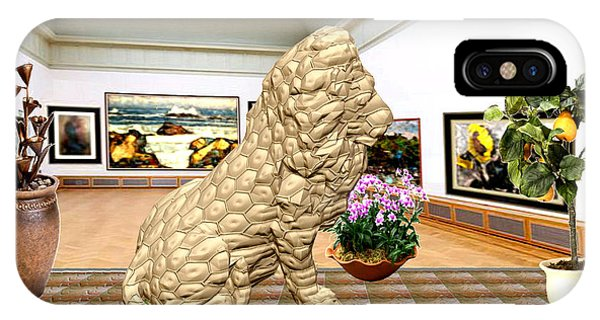 Virtual Exhibition - Statue Of A Lion IPhone Case