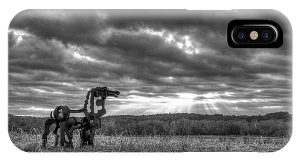 Visible Lights The Iron Horse Sunrise Art IPhone Case
