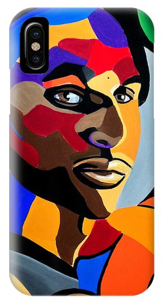Visionaire, Abstract Male Face Portrait Painting - Illusion Abstract Artwork - Chromatic IPhone Case