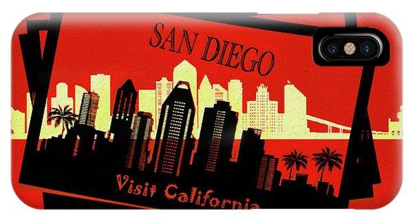 Traveler iPhone Case - Visit San Diego California Postcard by Dan Sproul