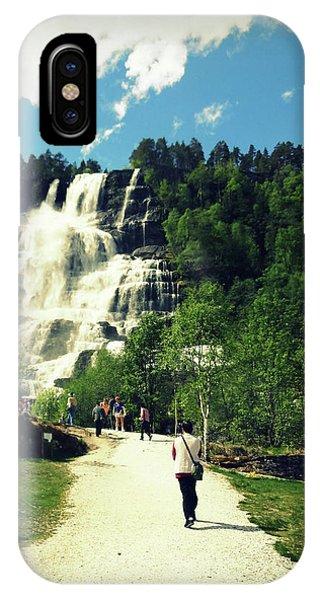 Visit To Tvindefossen Falls IPhone Case