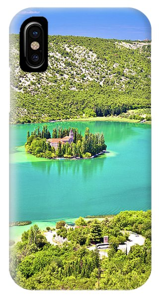Visovac Lake Island Monastery Aerial View IPhone Case