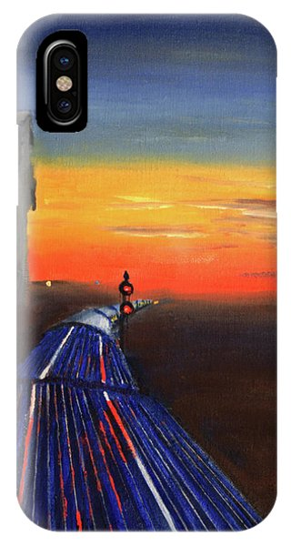 Railroad Signal iPhone Case - Vista-dome Dusk by Christopher Jenkins