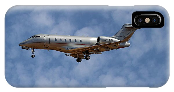 Jet iPhone Case - Vista Jet Bombardier Challenger 300 1 by Smart Aviation
