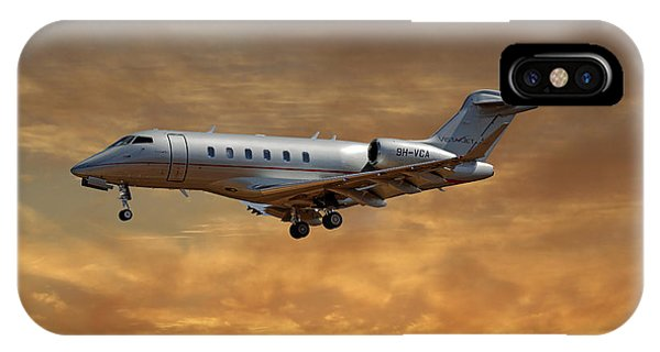 Jet iPhone Case - Vista Jet Bombardier Challenger 300 2 by Smart Aviation