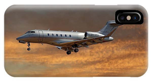 Jet iPhone Case - Vista Jet Bombardier Challenger 300 3 by Smart Aviation